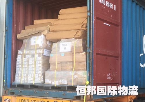 出口越南货物分类摆放便于海关查验